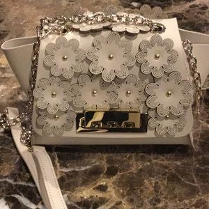 Zac Posen small shoulder bag with flower detail.